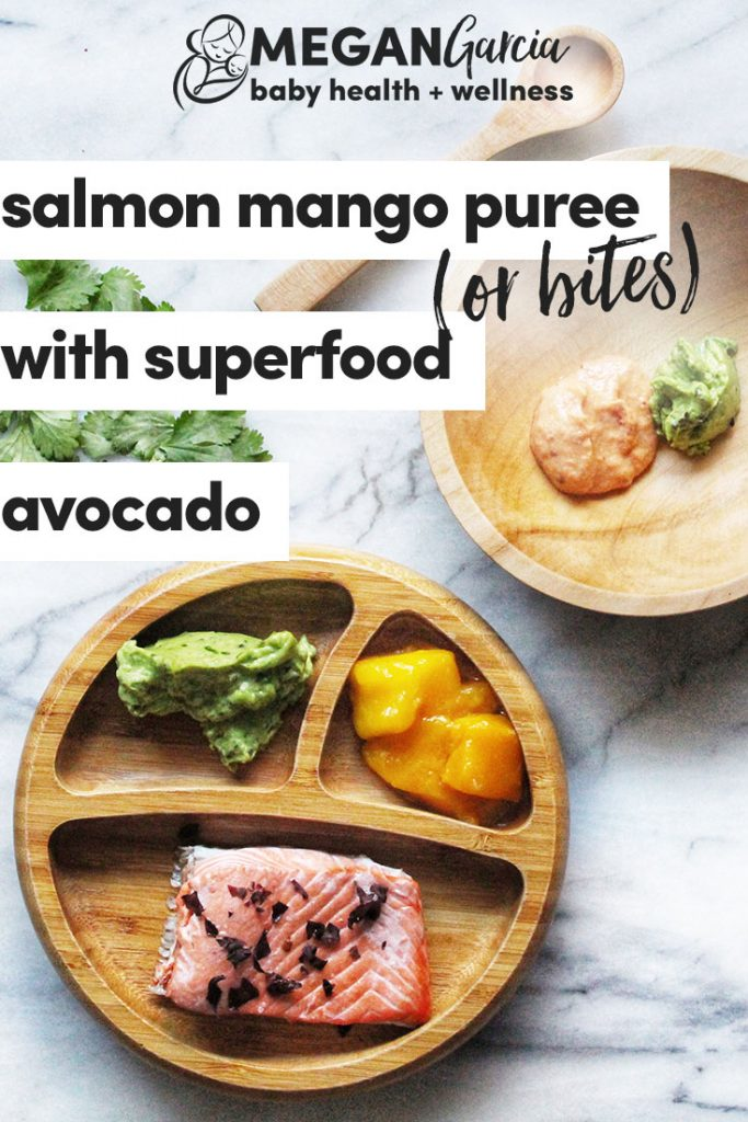 Salmon Mango Puree (Or Bites) With Superfood Avocado, 6+ Months - Megan Garcia