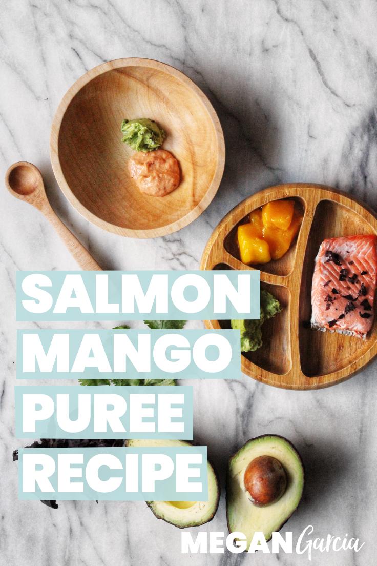 Salmon Mango Puree Recipe With Superfood Avocado 6+ Months | Megan Garcia